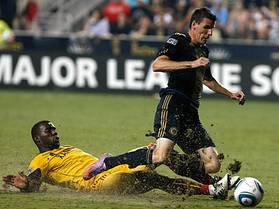 Sebastien Le Toux came up short in the voting for MLS´ Most Valuable Player award. (Ron Cortes/Staff Photographer)