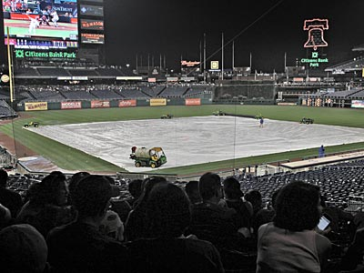 Saturday night´s Marlins-Phillies has been postponed until September 15th. (David M Warren/Staff Photographer)