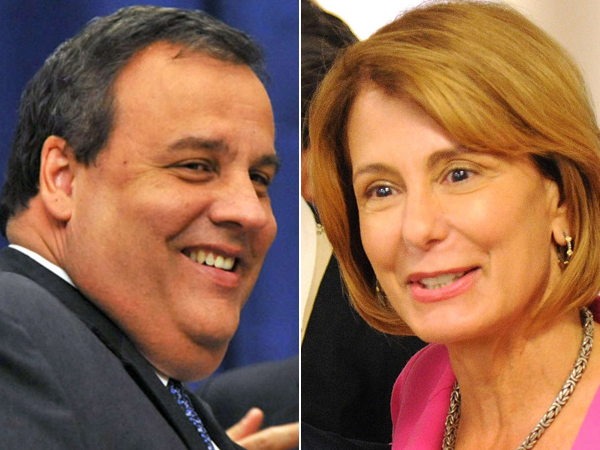 Gov. Christie (left) and Barbara Buono (right). (AP/Staff Photos)