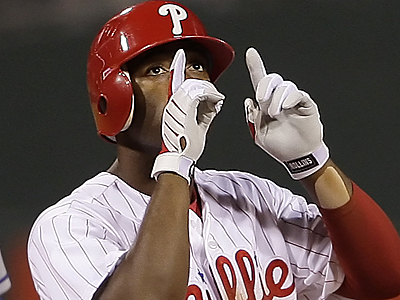 "´The other team gives you inspiration,"" Jimmy Rollins said of the Phillies´ rivalry with the Mets. (Ron Cortes/Inquirer)"