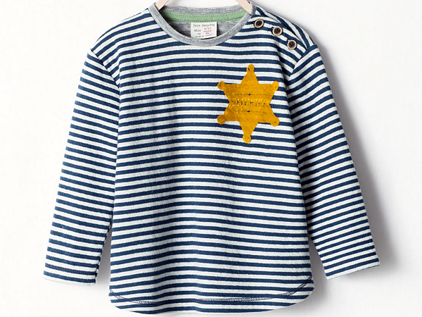 Zara, a retail chain, has pulled this toddler shirt after social media users said the design resembled that of a Nazi-era prison uniform.