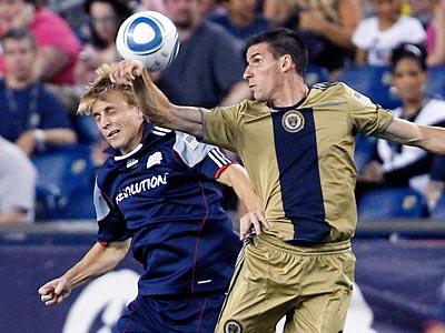 Sebastien Le Toux and the Union take on Chivas de Guadalajara tonight at PPL Park. (AP Photo/Michael Dwyer)