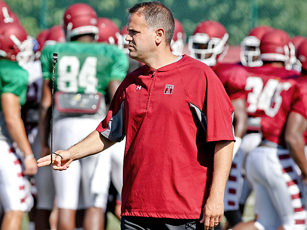 Temple football coach Matt Rhule. (David M Warren/Staff Photographer)