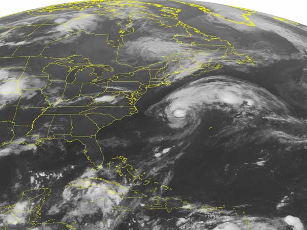 Hurricane Cristobal is remaining far off the New Jersey coast but still contributing to risky conditions at beaches along the state´s coast. (AP PHOTO/WEATHER UNDERGROUND)