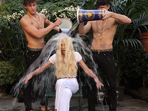 The ALS Ice Bucket Challenge just got a lot more stylish. (via YouTube)