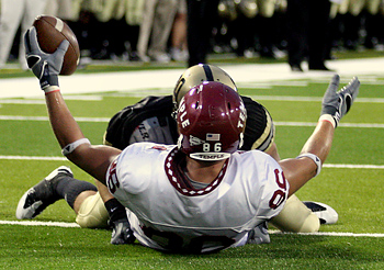 Steve Manieri´s touchdown catch was one of two Temple scores in the first quarter. (Craig Ruttle/AP)
