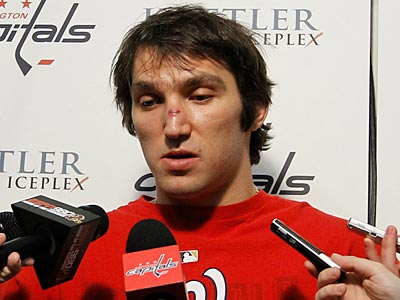 """""""It's going to be more difficult to score against the Flyers now,"""" Capitals´ Alex Ovechkin said. (Luis M. Alvarez/AP)"""