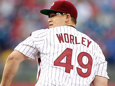 Vance Worley is headed to the DL for season-ending elbow surgery. (Yong Kim/Staff file photo)