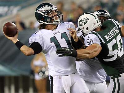Trent Edwards threw two touchdown passes in the Eagles´ win. (Yong Kim/Staff Photographer)
