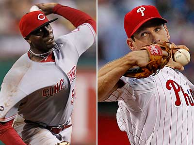 Wednesday´s pitching matchup will feature two of the best-hitting pitchers in the game, Dontrelle Willis (left) and Cliff Lee. (Staff and AP Photos)