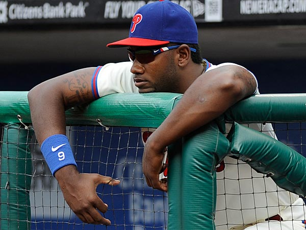 Philadelphia Phillies´ Domonic Brown is shown during a baseball game against the Atlanta Braves on Saturday, Aug. 3, 2013, in Philadelphia. (AP Photo/Michael Perez)