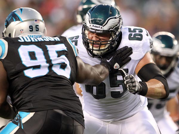 Eagles rookie Lane Johnson. (Yong Kim/Staff Photographer)