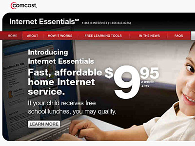 "Comcast´s ""Internet Essentials"" provides the poor with low-cost access to the Web."