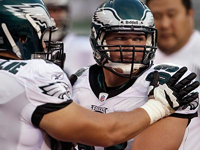 Eagles offensive lineman Danny Watkins was shaky once again against the Jets. (David Maialetti/Staff Photographer)