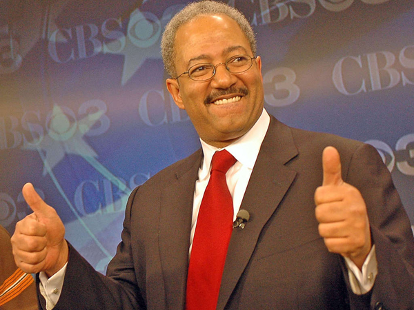 Rep. Chaka Fattah before a debate among candidates for mayor in 2007.