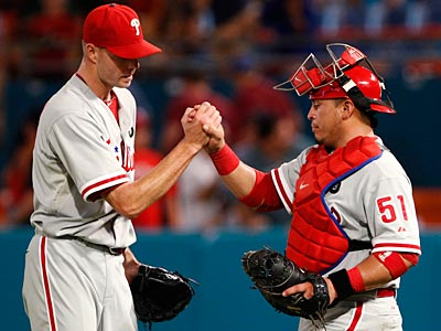 The Phillies are on pace to break the team record for wins in a season. (Wilfredo Lee/AP)