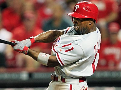 Jimmy Rollins will be the only Phillies player to qualify for a batting title based on plate appearances. (Al Behrman/AP)