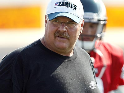 Eagles Head Coach Andy Reid says he is happy with his roster. ( David Maialetti/staff photographer)