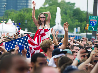 The 2012 Made in America music fest on the Parkway attracted large crowds.
