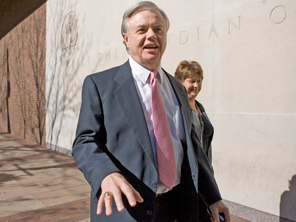 Vince Fumo, seen exiting federal court in 2008. (Jessica Griffin / Staff Photographer)