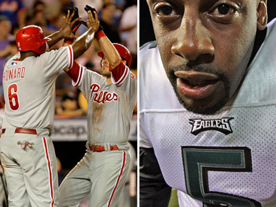 When it rains, it pours scheduling problems for Philly sports fans. (File photos)