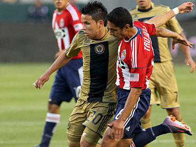 Roger Torres has been one of the Union´s most promising young players this season. (Tracy Boulian/AP file photo)