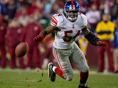 Giants LB Jonathan Goff is out for the year with a torn ACL, according to reports. (AP Photo / Evan Vucci)