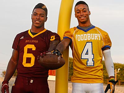 Corey Clement (left) and Anthony Averett grew up together in Glassboro. (Ron Cortes/Staff File Photo)