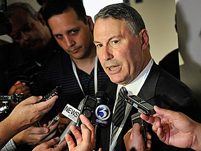"""When they called me, nobody had ever hired a pure media person,"" Big East commissioner Mike Aresco said. (Jessica Hill/AP)"