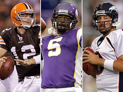 Colt McCoy, Donovan McNabb or Kyle Orton could all be late quarterback additions for Week 1. (AP Photos)