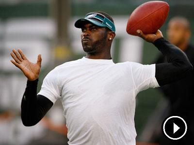 Michael Vick and the Eagles open their season Sunday against the Rams. (Michael Wirtz / Staff Photographer)