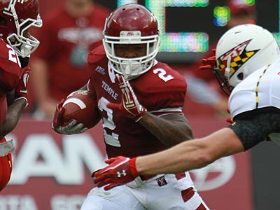 Temple running back Matt Brown is suffering from a sprained ankle. (David Swanson/Staff Photographer)