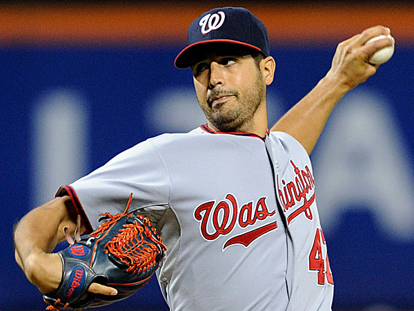 Nationals pitcher Gio Gonzalez. (Bill Kostroun/AP)