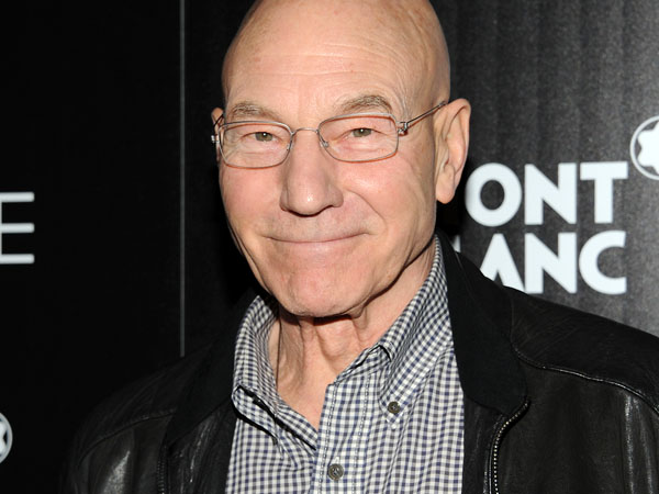 "FILE - In this April 2, 2013 file photo, actor Patrick Stewart attends Fox Searchlight Pictures´ premiere of ""Trance,"" hosted by The Cinema Society with Montblanc, at the SVA Theater, in New York.  Stewart is sharing the news of his nuptials on Twitter. The 72-year-old actor posted a photo on the site Sunday, Sept. 8, 2013,  of himself and his bride buried to their necks in multicolored plastic balls with the simple caption, ìYes, married.î (Photo by Evan Agostini/Invision/AP, File)"
