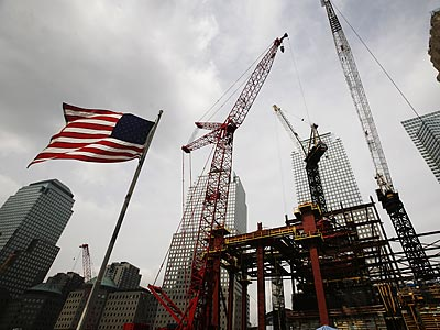 Friday will mark the eighth anniversary of the terrorist attacks of Sept. 11, 2001. (Mark Lennihan/AP)