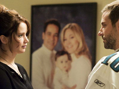 Bradley Cooper and Jennifer Lawrence star in Silver Linings Playbook.