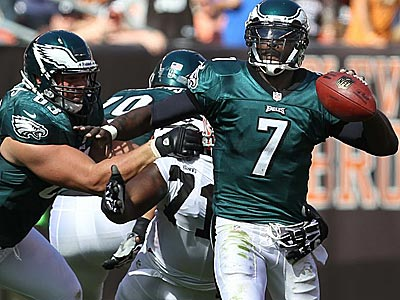 Michael Vick threw four interceptions in the Eagles´ Week 1 win over the Browns. (Ron Cortes/Staff Photographer)