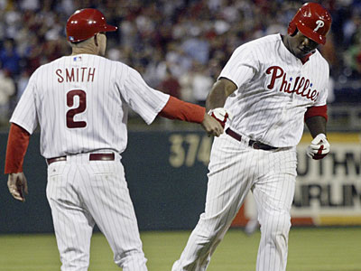 Phillies first baseman Ryan Howard leads the National League with 43 homers and 129 RBIs. (H. Rumph Jr. / AP)