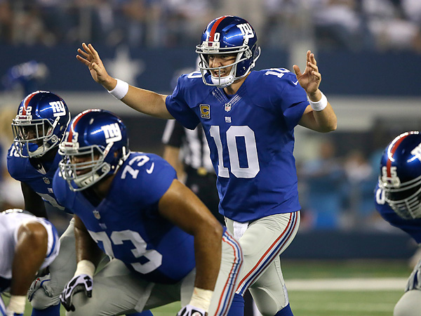 New York Giants quarterback Eli Manning. (Tony Gutierrez/AP)