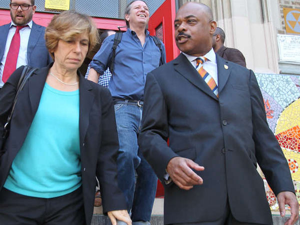 American Federation of Teachers President Randi Weingarten (left) and Philadelphia Federation of Teachers President Jerry Jordan (right). (File photo: Charles Fox / Staff Photographer)