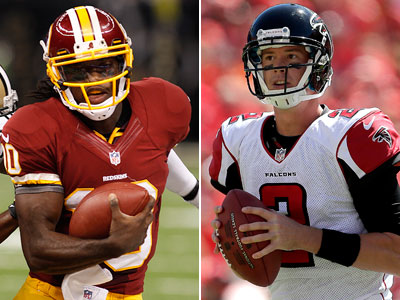 Robert Griffin III and Matt Ryan both had explosive week ones, but did it in two different ways. (AP Photos)