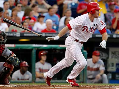 Chase Utley batting leadoff? Don´t be so quick to dismiss the idea. (Ron Cortes/Staff Photographer)