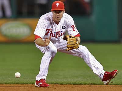 Chase Utley was voted one of the meanest players in baseball by his fellow players. (David M Warren/Staff Photographer)
