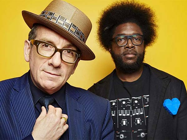 "Elvis Costello & the Roots , ""Wise Up Ghost."" (On sale Tuesday; Costello plays solo Nov. 10 at the Merriam Theater.) The 59-year-old Costello got to know the generation-younger Roots on the set of ""Late Night With Jimmy Fallon."" He has now added the Philadelphia hip-hop band to his long list of collaborators, including Allen Toussaint, Burt Bacharach, and Anne Sofie von Otter. ""Wise Up Ghost"" sounds like a deep, dark, top-of-the-line Costello album, albeit more rhythmically adept and forceful than usual. (The Roots´ own new album, said to be titled ""Then You Shoot Your Cousin,"" does not yet have a release date.)"