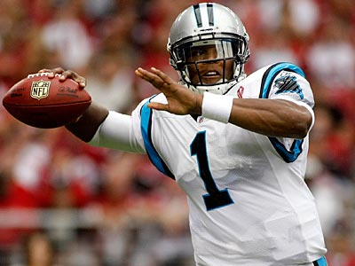 Cam Newton passed for 422 yards and two touchdowns in his debut in Week 1. (Ralph Freso/AP)