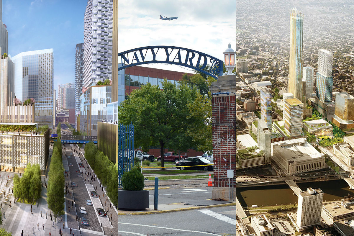The three locations that Philadelphia officials plan to feature in their headquarters-site proposal to Amazon.com.