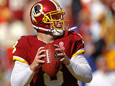 Rex Grossman and the Redskins are off to a 3-1 start. (AP Photo)