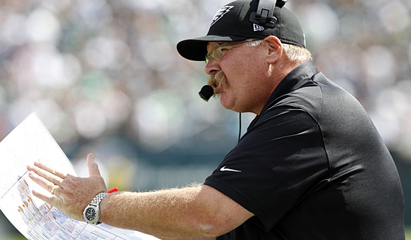 Andy Reid is in his 14th season as head coach of the Eagles. (Yong Kim/Staff Photographer)