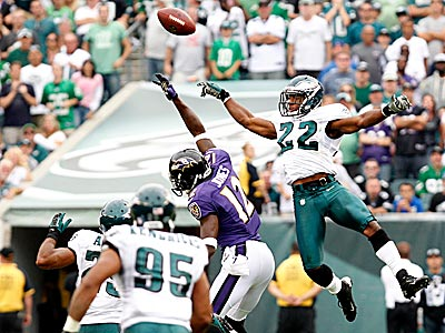 Eagles cornerback Brandon Boykin breaks up a pass intended for Jacoby Jones in the fourth quarter.. (Ron Cortes/Staff Photographer)