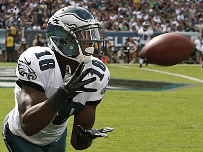 Eagles Jeremy Maclin is all alone for the Eagles&acute; first touchdown. (Ron Cortes/Staff Photographer ). <br />
